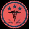 three star healthcare providers school badge