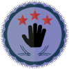 three star volunteer badge