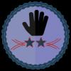 two star volunteer badge