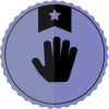 one star volunteer badge